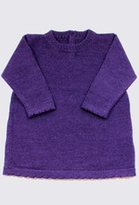 Alpaca dress in purple with wooden buttons