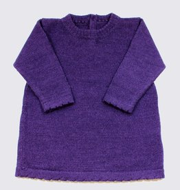 Alpaca dress in purple