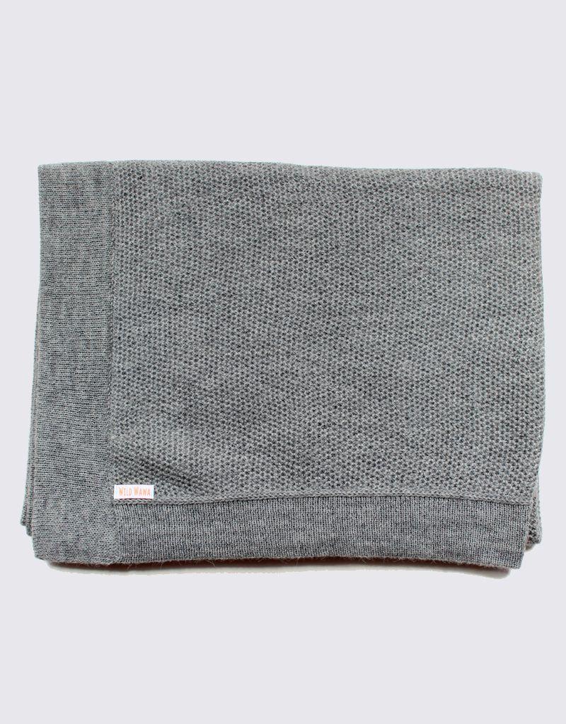 Alpaca baby blanket in light grey