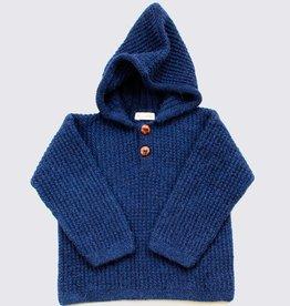Alpaca hoodie in dark blue