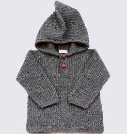Alpaca capuchontrui in grijs