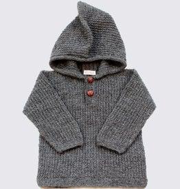 Alpaca hoodie in grey