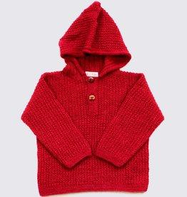 Alpaca hoodie in red