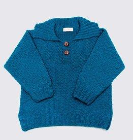 Turquoise alpaca sweater