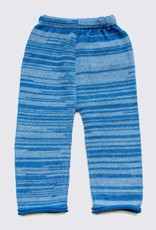 Alpaca set of trousers and sweater in blue
