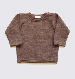 Alpaca sweater in natural brown