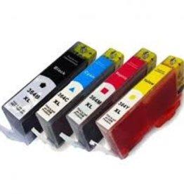 Hewlett-Packerd NuOffice HP 364 XL CB323EE cyan, CB325EE geel, CB324EE magenta, CB322EE zwart Compatible cartridge's