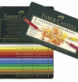 Faber Castell Faber Castell Polychromos kleurpotloden etui à 12 stuks