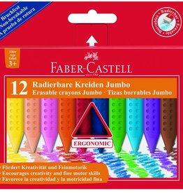 Faber Castell Faber Castell Jumbo GRIP krijt doos 12 stuks