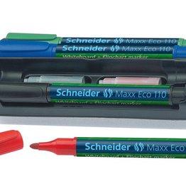 Schneider boardmarker Schneider Maxx Eco 110 set a 4 stuks + wisse