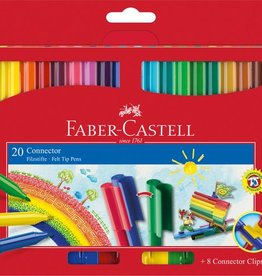 Faber Castell Faber Castell Connector viltstiften etui met 20 stuks