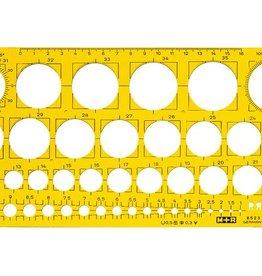 Mobius & Ruppert cirkelsjabloon Möbius & Ruppert geel