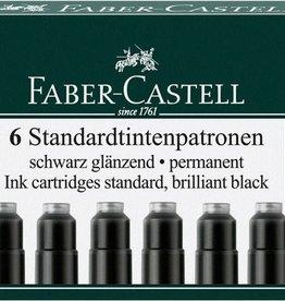 Faber Castell Faber Castell inktpatronen zwart doosje a 6 stuks