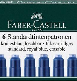 Faber Castell Faber Castell inktpatronen blauw doosje a 6 stuks