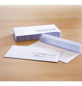 Raadhuis dienstenvelop met venster Raadhuis 110x220mm DL (EA5/6) wit met plakstrip doos a 500 stuks