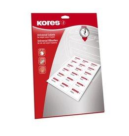 Kores etiket Kores ILK 105x148mm recht doos a 25 vel 4 etiketten  per vel