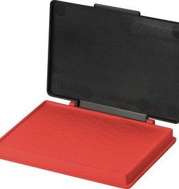 Kores Stempelkussen in plastic box, 7 x 11 cm. Kleur rood.