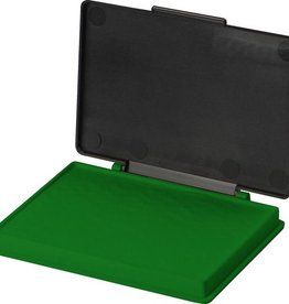Kores Stempelkussen in plastic box, 7 x 11 cm. Kleur groen.