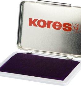 Kores Stempelkussen in metalen box, 7 x 11 cm. Kleur zwart.