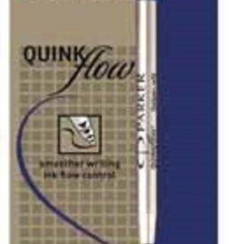 Parker Parker vulling voor balpen Quinkflow, fijne punt 0,8 mm, blauw.