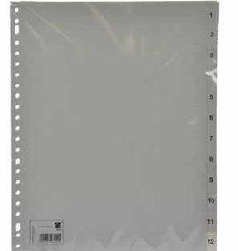 5 Star 5Star tabbladen PP GRIJS A4+ 23G 1-12