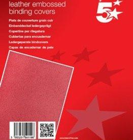5 Star 5Star™ Omslagen met lederprint A4 rood