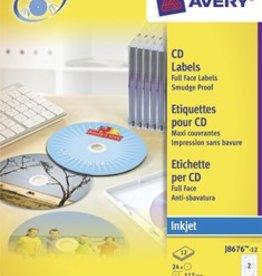 Avery Zweckform Zweck Full size etiketten voor CD/DVD 117MM 24 stuks (12 vel)