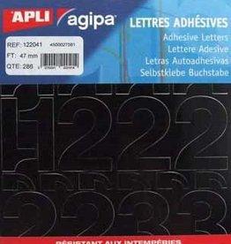 Agipa Agipa etiketten cijfers en letters P286 KLEEFCIJFERS 47MM ZWART