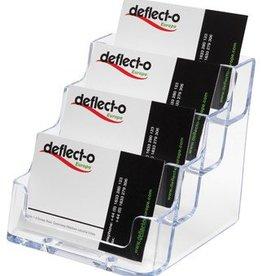 Deflecto Deflecto visitekaarthouder 4DELIG TRANS
