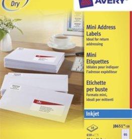Avery AVERY Witte etiketten inkjet QuickDry™ P650 38,1X21,2