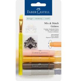 Faber Castell Faber-Castell Gelatos aquarelkrijt 4 kleuren