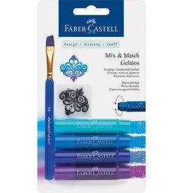 Faber Castell Faber-Castell Gelatos aquarelkrijt 4 kleuren blauw