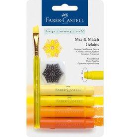 Faber Castell Faber-Castell Gelatos aquarelkrijt 4 kleuren geel