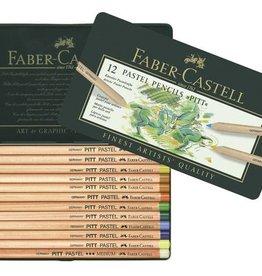 Faber Castell Faber Castell Pitt pastelpotlood metalen etui a 12 stuks