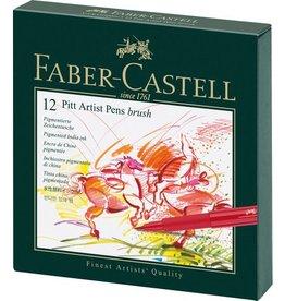 Faber Castell Faber Castell Pitt Artist 12-delig Studiobox Pen Brush