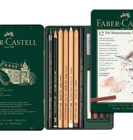 Faber Castell Faber Castell Pitt Monochrome set 12-delig medium