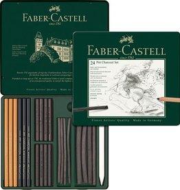 Faber Castell Faber Castell Pitt Monochrome houtskoolset 24-delig