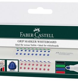 Faber Castell Faber Castell GRIP ronde punt etui a 4 stuks whiteboardmarkers