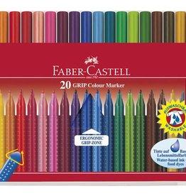 Faber Castell Faber Castell GRIP Colour etui 20 stuks viltstiften
