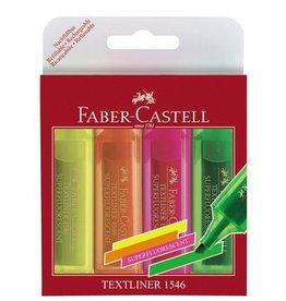 Faber Castell Faber Castell 1546 etui met 4 stuks tekstmarkers