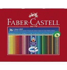 Faber Castell Faber Castell GRIP metalen etui a 36 stuks kleurpotloden