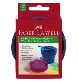 Faber Castell Faber Castell Clic&Go blauw watercup