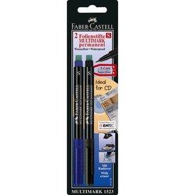 Faber Castell Faber Castell Multimark permanent S rood + zwart blister marker