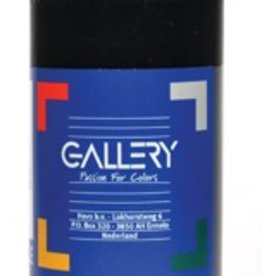 Gallery Gallery plakkaatverf, flacon van 500 ml, zwart
