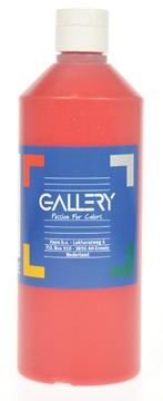 Gallery Gallery plakkaatverf, flacon van 500 ml, donkerrood