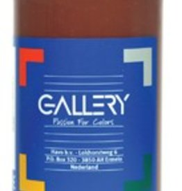 Gallery Gallery plakkaatverf, flacon van 500 ml, donkerbruin
