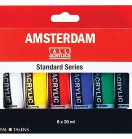 Talens Talens acrylverf Amsterdam 6 tubes van 20 ml in geassorteerde kleuren