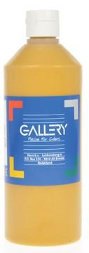 Gallery Gallery plakkaatverf, flacon van 500 ml, oker