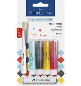 Faber Castell Faber-Castell Gelatos aquarelkrijt 4 kleuren 50's Diner
