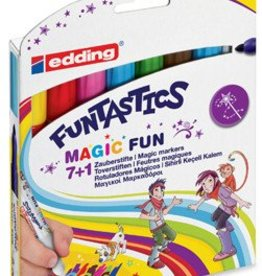 Edding Edding viltstift Funtastics Magic, etui van 8 stuks, geassorteerde stuks